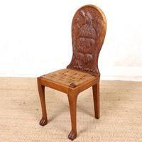 Carved Oak Eagle Chair (2 of 9)