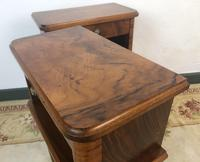 Vintage French Mahogany Cabinets Bedside Tables (9 of 14)