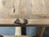 Bleached Oak Farmhouse Dining Table with Extensions (12 of 16)