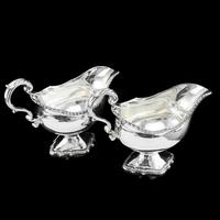 Pair of Georgian Solid Silver Pedestal Sauce Boats - William Collins 1774 (4 of 24)