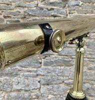 Antique Broadhurst Clarkson & Co Brass Telescope on Tripod (6 of 14)