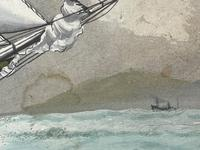 """Edwardian Watercolour """"Champion Of The Seas"""" Ship Black Ball Line Off Cape of Good Hope Signed Pierhead Artist Williams (10 of 39)"""