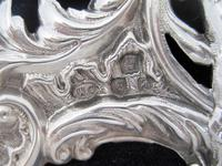 William Comyns Victorian Heart Shaped Silver Dressing Table Mirror (5 of 8)