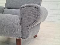 1970s Danish Design, Completely Restored Armchair, Furniture Wool, Teak Wood (8 of 12)