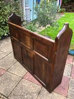 Antique Victorian Church Pew Bench Solid Oak (4 of 8)