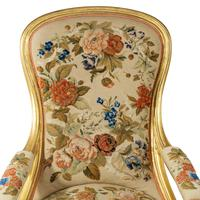 Pair of High Victorian Giltwood & Needlework Armchairs by Gillows (11 of 15)