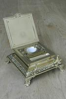 Super Large William Tonks & Sons Phoenix Brass Inkwell with Stamp Tray c.1890 (4 of 12)
