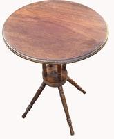 Lovely Circular Walnut Arts & Crafts Wine Table (2 of 6)