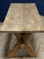 Rustic French Bleached Oak Coffee Table (16 of 20)