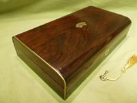 French Inlaid Rosewood Games Box + Accessories c.1880 (2 of 11)