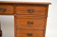 Antique Victorian  Walnut Pedestal Desk (10 of 11)