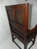 Early Welsh Oak Waincot Chair (8 of 12)