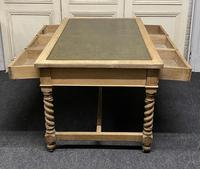 Large Oak 6 Drawer Writing Table (8 of 16)