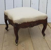 Antique French Oak Foot Stool