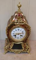 French Tortoiseshell & Brass inlay Mantel Clock (6 of 14)