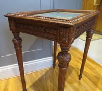 Superb Hand Carved Solid Mahogany Bijouterie Vitrine (4 of 9)