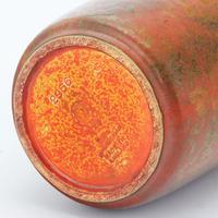 Royal Lancastrian Orange-Vermilion & Black Streaked Vase c.1930 (9 of 9)