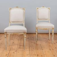 19th Century French Painted And Parcel-Gilt Upholstered Salon Suite (15 of 15)