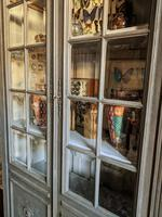 Imposing 19th Century French Glazed & Painted Bookcase Cabinet (9 of 10)