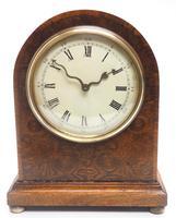 Fantastic Burr Walnut Mantle Clock Rare Snake Hands 8 Day Mantle Clock (6 of 11)
