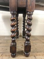 Early 20th Century Antique Oak Gateleg Table (7 of 9)