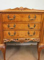 Burr Walnut Queen Anne Style Shaped Sideboard (7 of 13)