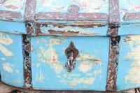 Scandinavian / Swedish 'Folk Art' Travel chest in blue paint and ironwork, 18th Century (15 of 37)