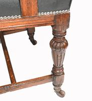 Set of 8 Farmhouse Dining Chairs English Oak Rustic (8 of 9)