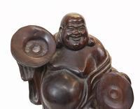 Set of Carved Chinese Buddha Statues Hardwood Figurine c.1930 (2 of 9)