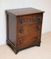 Small Proportioned Oak Chest of Drawers (8 of 10)