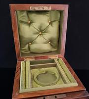 Antique Victorian walnut jewellery box, fitted (8 of 9)