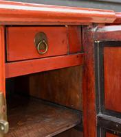 Excellent Pair of Chinese Red Lacquered Cabinets / Cupboards c.1900 (14 of 15)