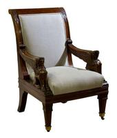 Pair of Library Chairs 19th Century (3 of 5)