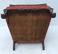Irish Chippendale Design 19th Century Mahogany Wing Back Armchair (8 of 9)