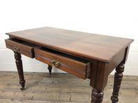 Edwardian Mahogany Two Drawer Side Table (3 of 11)