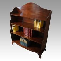 George V Mahogany Waterfall Bookcase