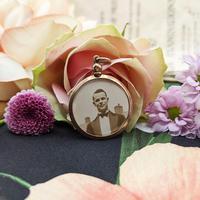 Vintage 9ct Rose Gold Photo Frame Locket Pendant (6 of 7)