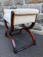 Antique Carved Walnut X Frame Stool (9 of 9)