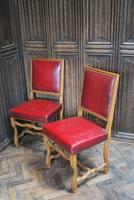 Set of 8 French Leather Dining Chairs (3 of 7)
