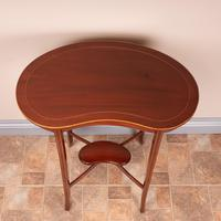 Edwardian Inlaid Mahogany Kidney Shape Occasional Table (5 of 15)