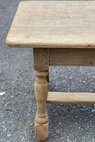 Large French Bleached Oak Farmhouse Table with Extensions (11 of 26)