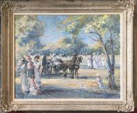 Baron Michael D'Aguilar Oil Painting  'DANS LE BOIS' (2 of 3)