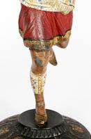 Pair of Continental, Probably French, Cold Painted Metal Figural Candlesticks (17 of 27)