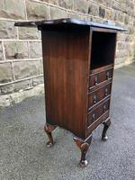 Antique Mahogany Bedside Cabinet (5 of 8)