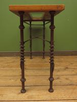 Wrought Iron & Wood Console Table with Glass Insert (12 of 14)