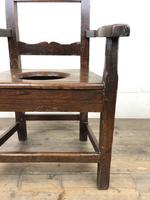 Antique Stained Pine Child's Potty Chair (4 of 12)