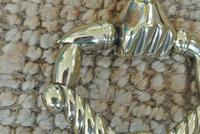 Fine Early 19th Century Brass Door Knocker Acorn in Hand Regency Period (5 of 9)