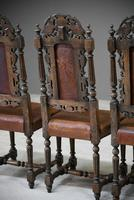4 Carved Oak Dining Chairs (11 of 13)