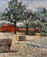Lovely Original 20th Century Vintage Impressionist Harvest Haystack Landscape Painting (4 of 12)