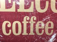 Vintage English Original Enamel Metal Welcome Coffee Lovers Double Sided Shop Sign (15 of 21)